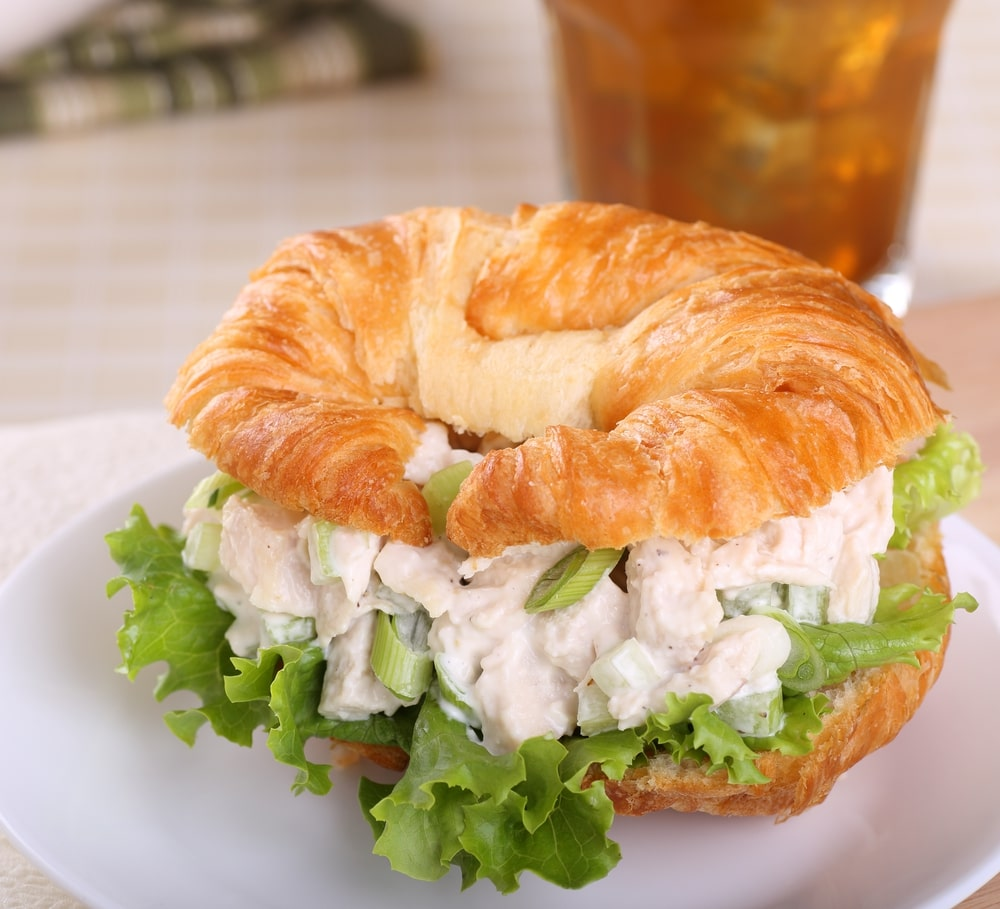 Homemade Chicken Salad Burger