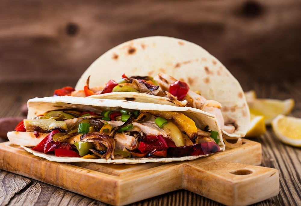 Chicken Fajitas Wrap