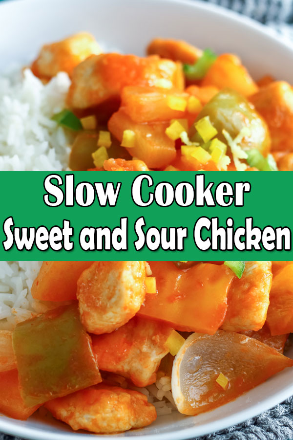 slow cooker crockpot sweet and sour chicken recipe
