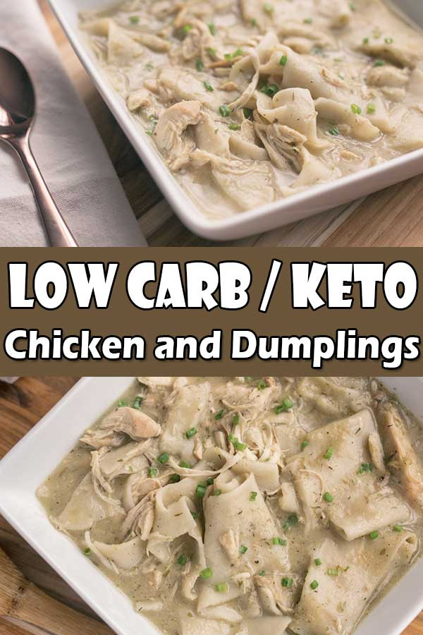 Keto Low Carb Chicken and Dumplings