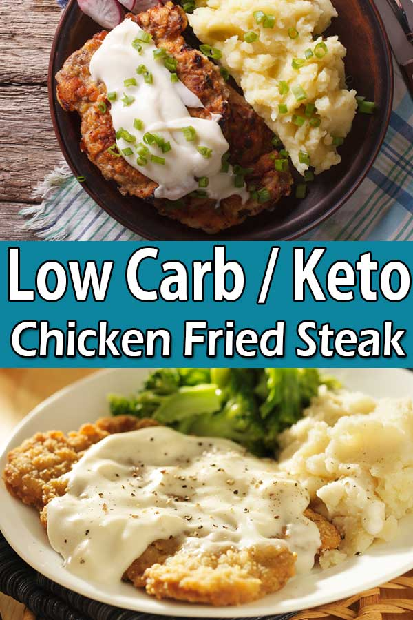 low carb keto chicken fried steak