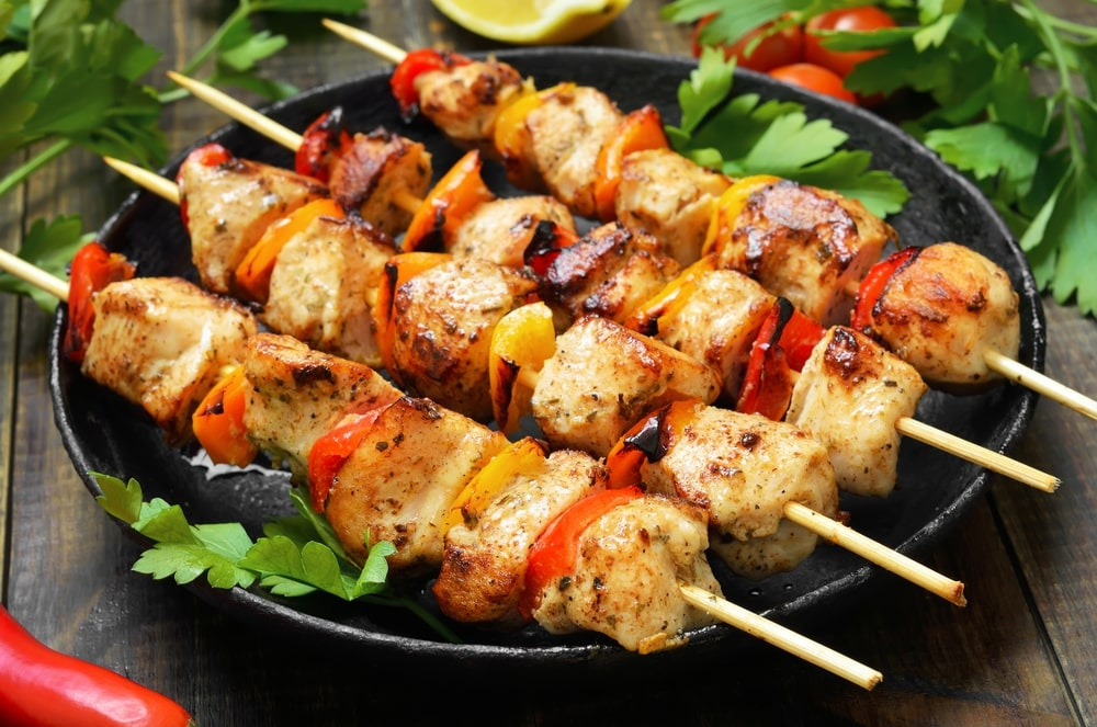 Chicken Kabobs - Easy Grilled Chicken Kabobs with Vegetables