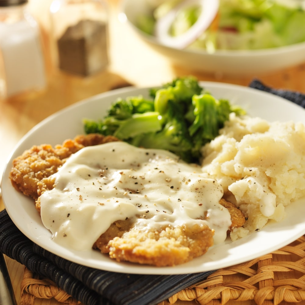 keto chicken fried steak with almond flour