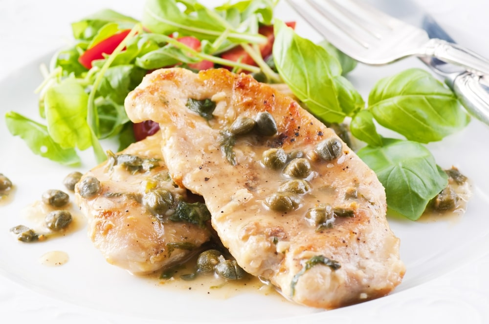 low carb chicken piccata with capers