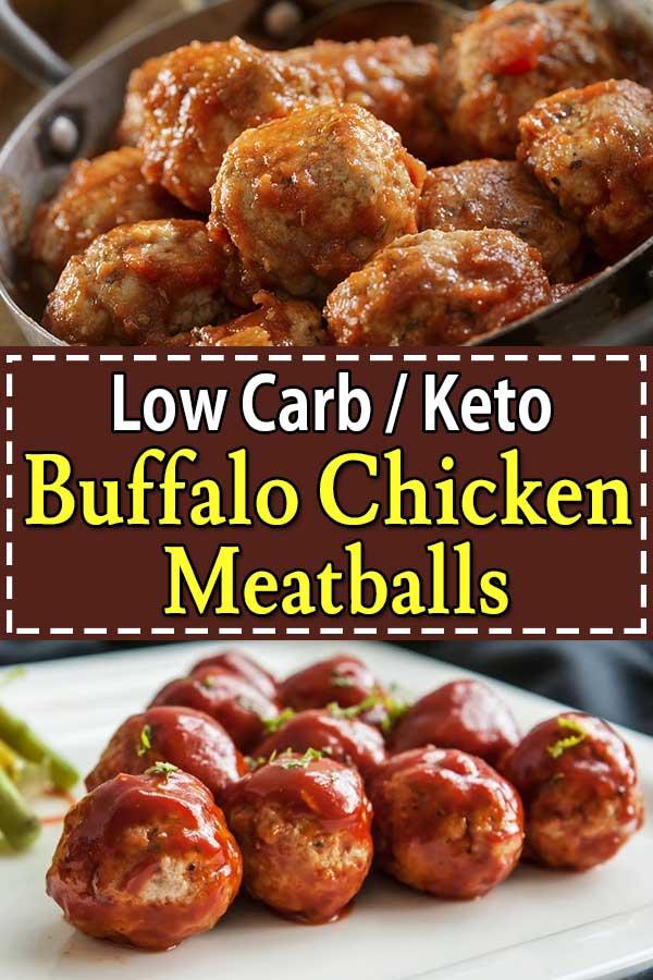 Low Carb Keto Buffalo Chicken Meatballs