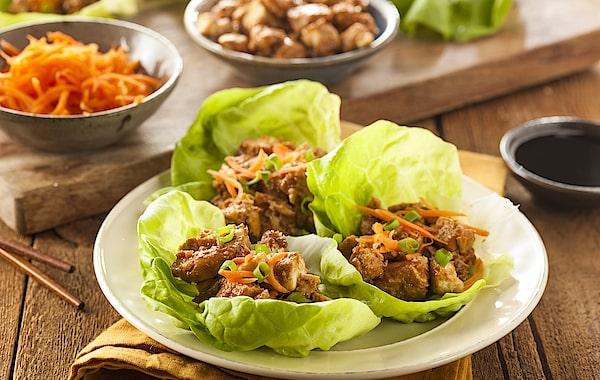 keto ground chicken lettuce wraps