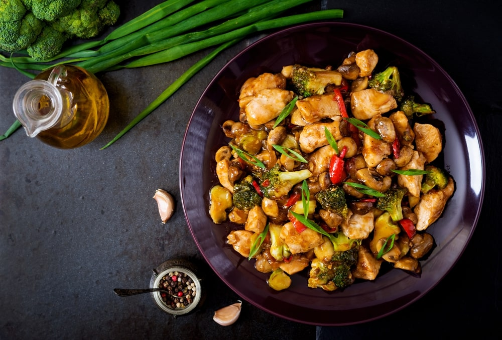 keto stir fry chicken and vegetables