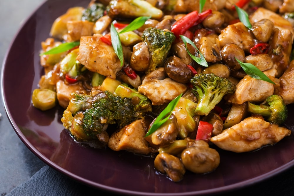 low carb chicken and vegetable stir fry