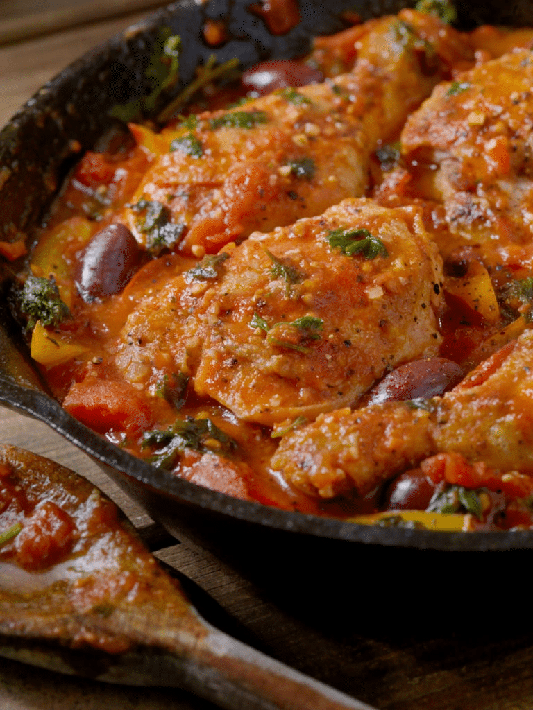 low carb chicken cacciatore