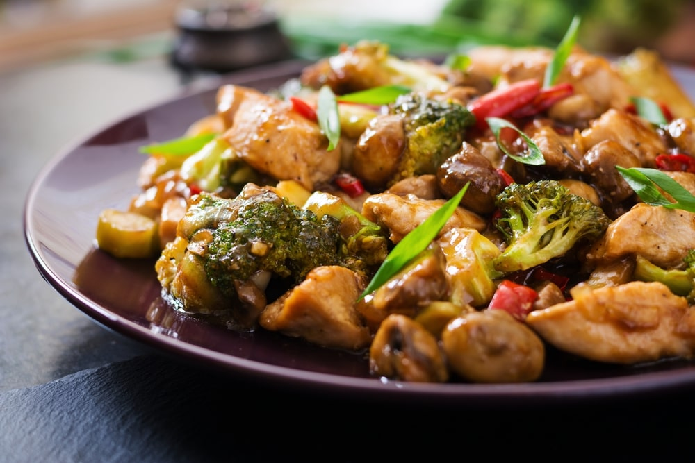 low carb chicken stir fry