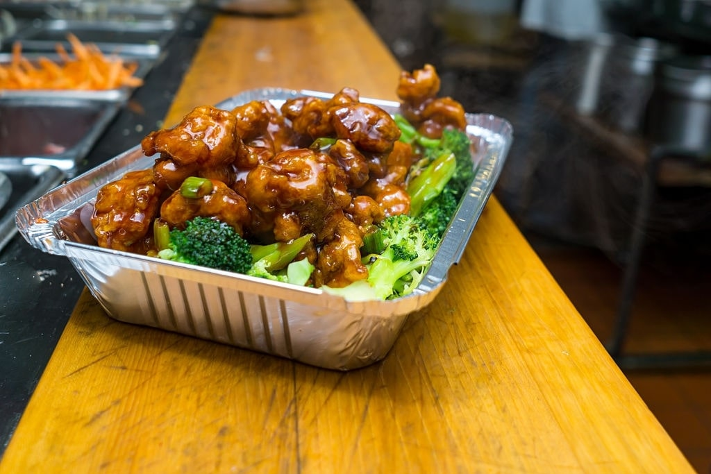 low carb general tso chicken and broccoli