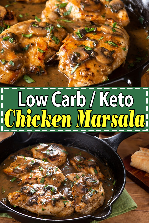 Low Carb Keto Chicken Marsala