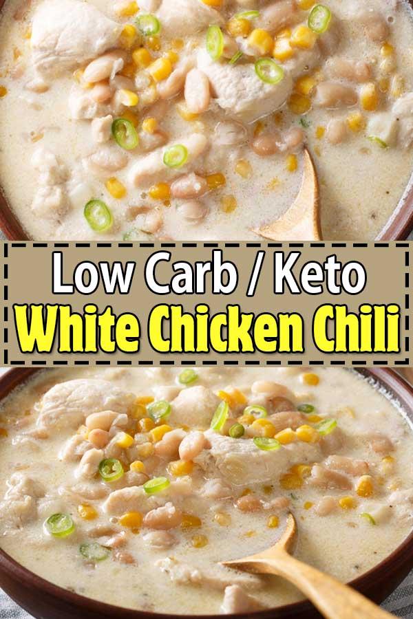 low carb keto white chicken chili