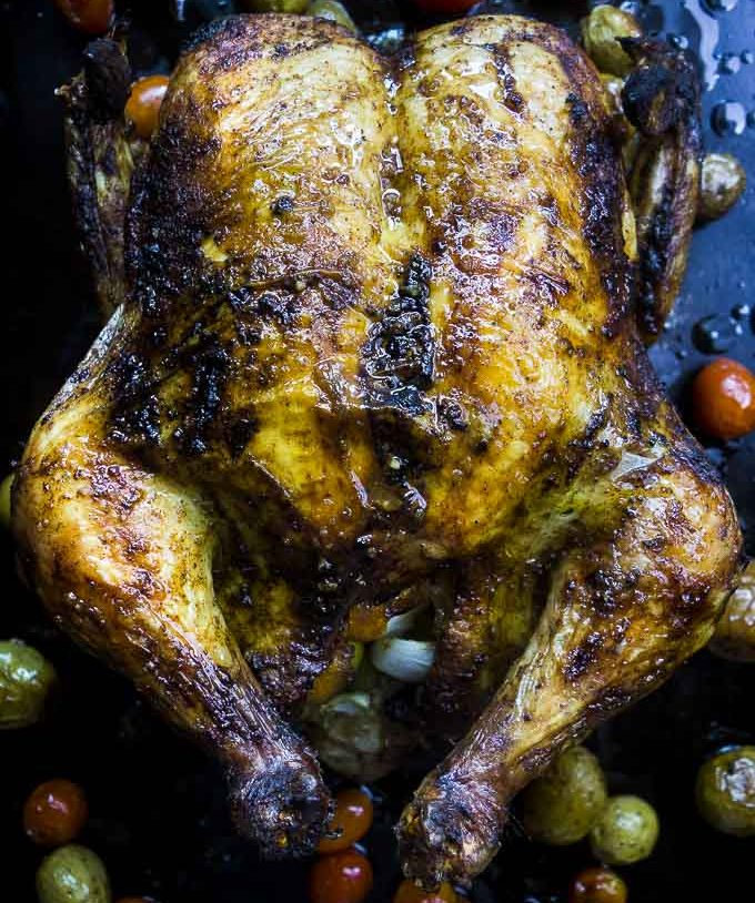 Moroccan Roasted Chicken with Preserved Lemons