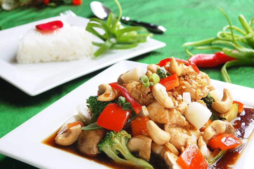 chicken with cashew nuts low carb
