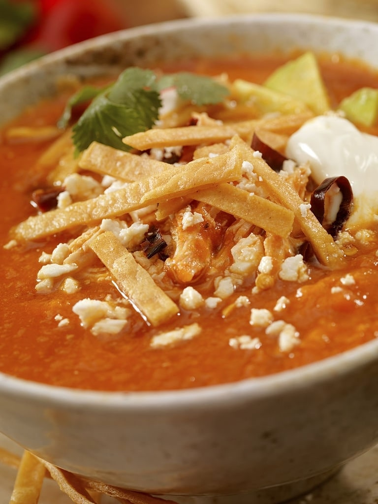 low carb chicken tortilla soup crock pot
