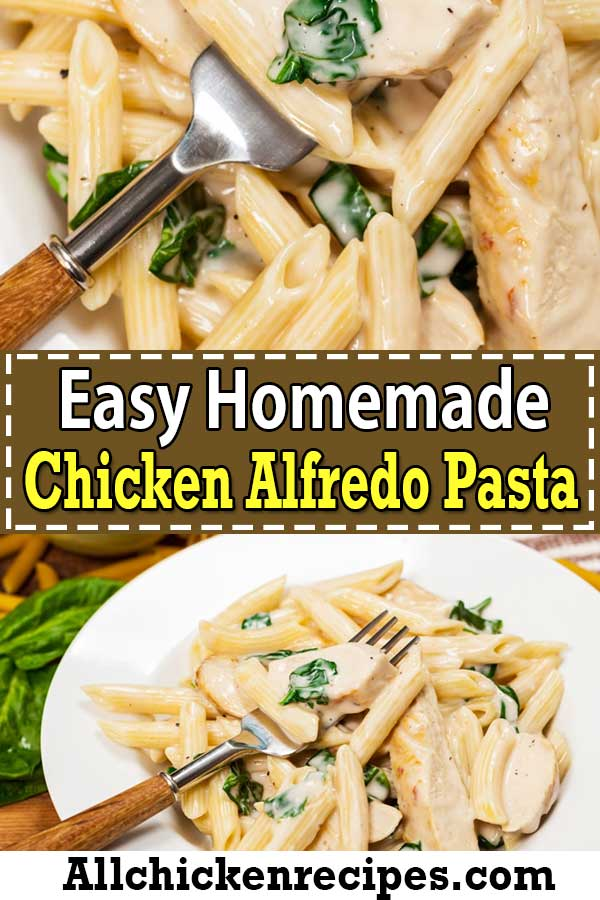 Easy Homemade Chicken Alfredo Pasta