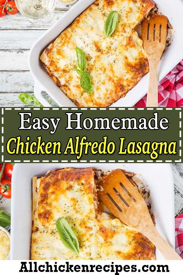 Easy Homemade Chicken Alfredo Lasagna