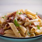 chicken alfredo with bacon