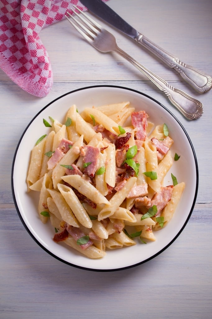 chicken and bacon alfredo