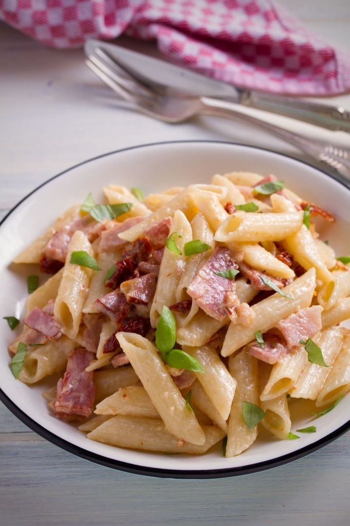 chicken bacon alfredo penne