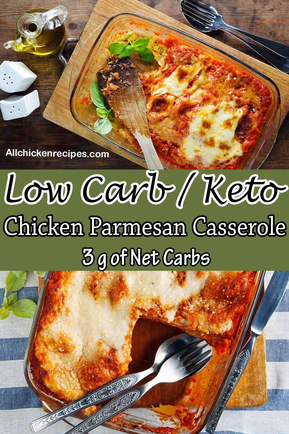 low carb keto chicken parmesan casserole