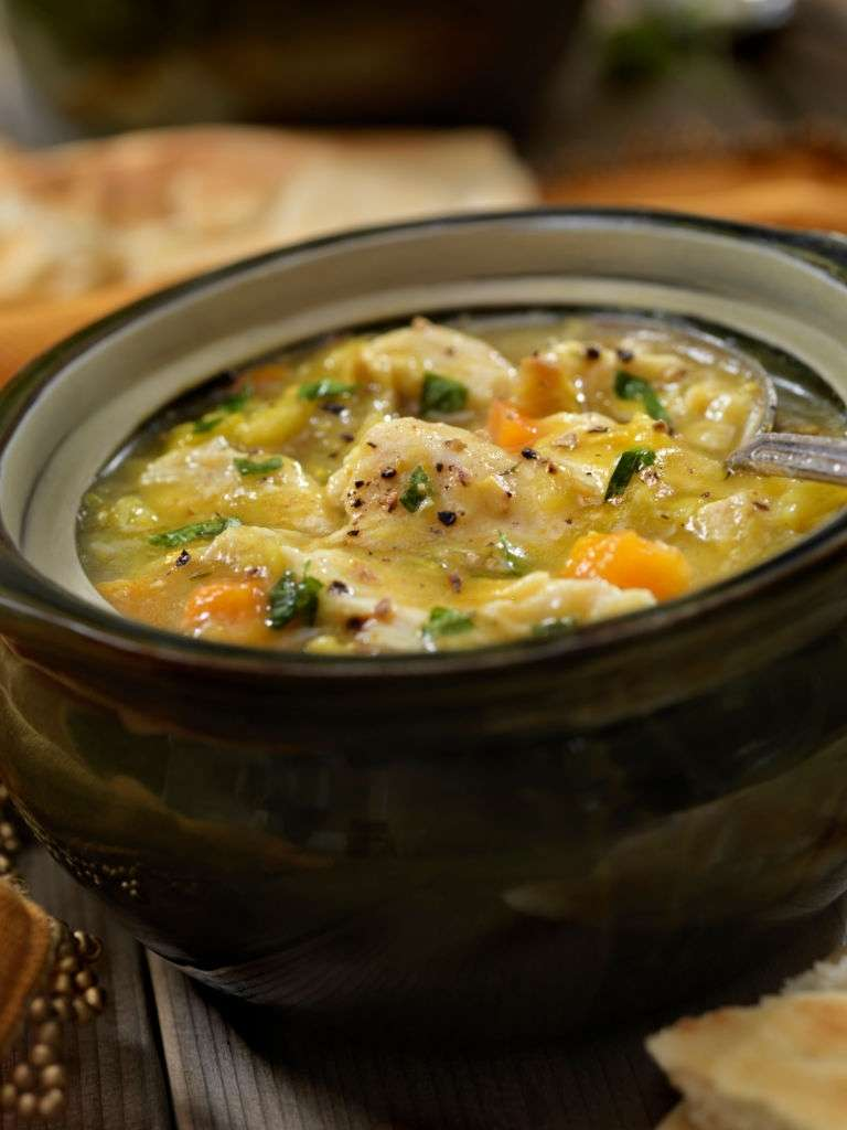 Easy Keto Chicken Pot Pie Soup Slow Cooker