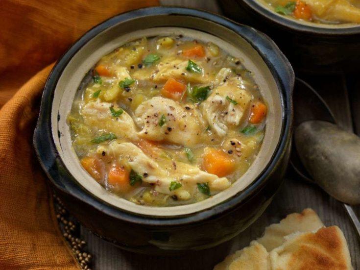 Keto Chicken Pot Pie Soup