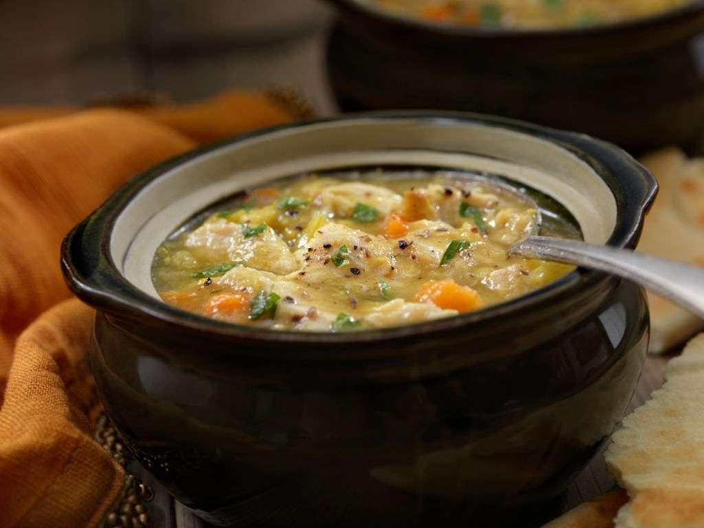 Low Carb Chicken Pot Pie Soup