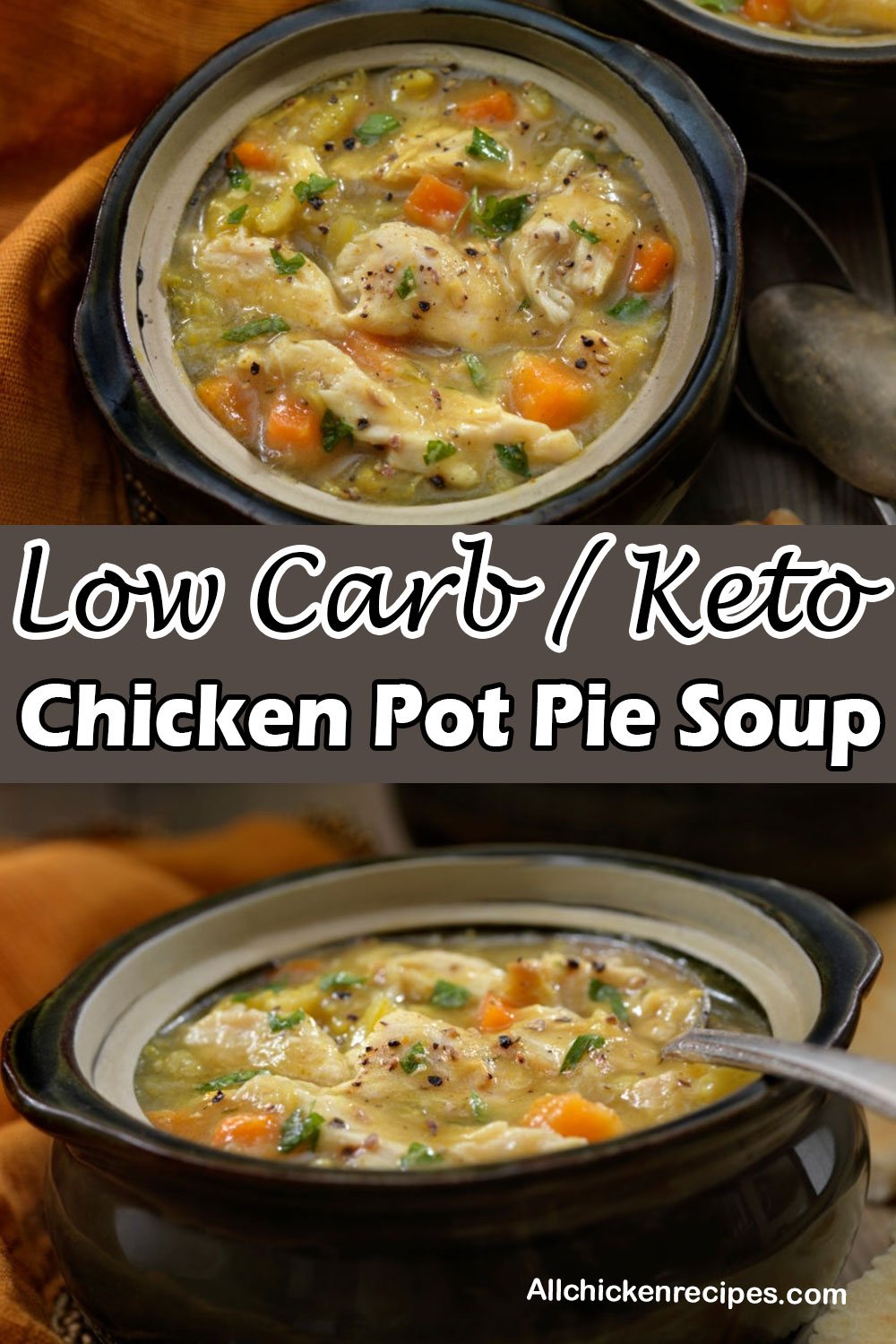 Low Carb Keto Chicken Pot Pie Soup