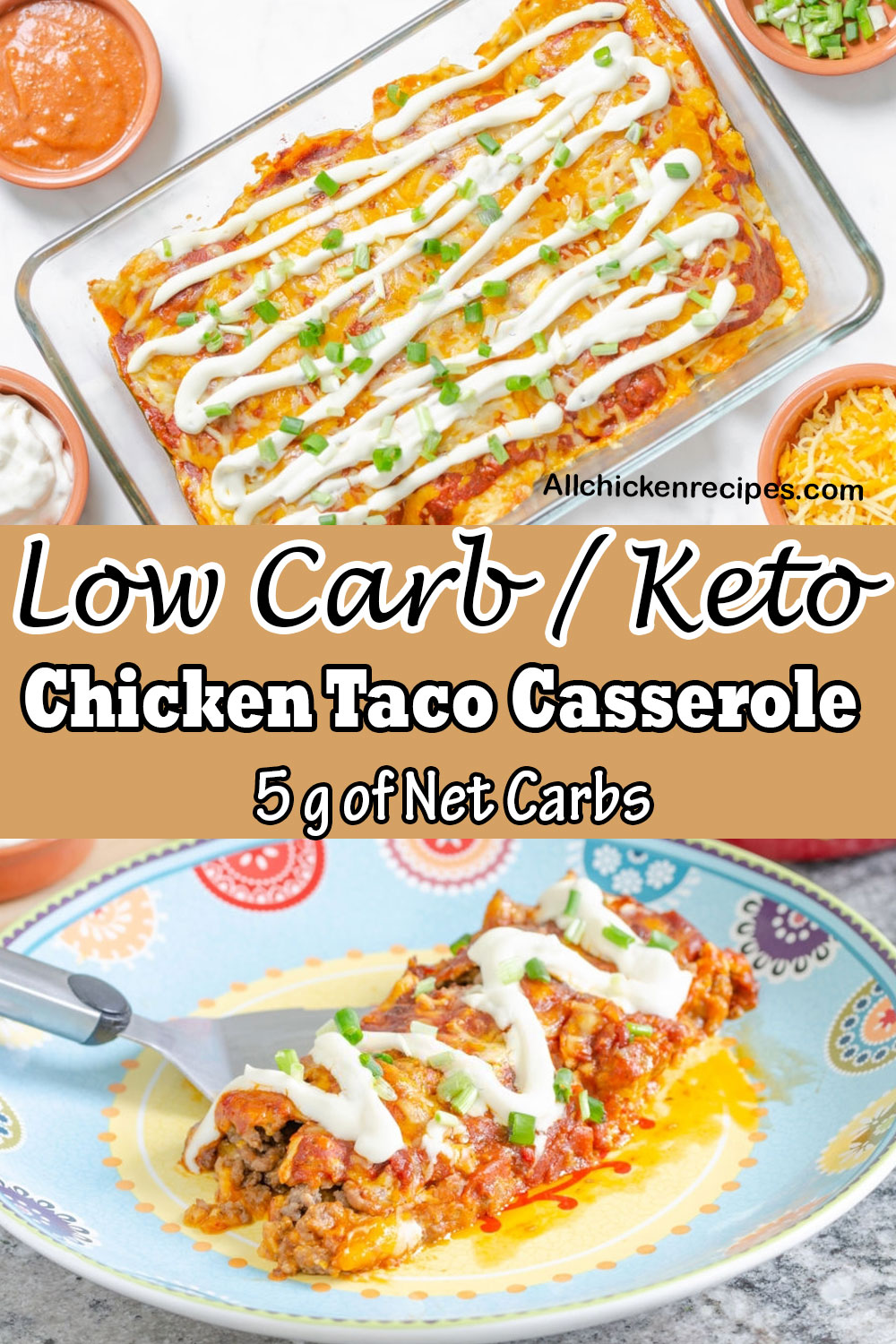 Low Carb Keto Chicken Taco Casserole