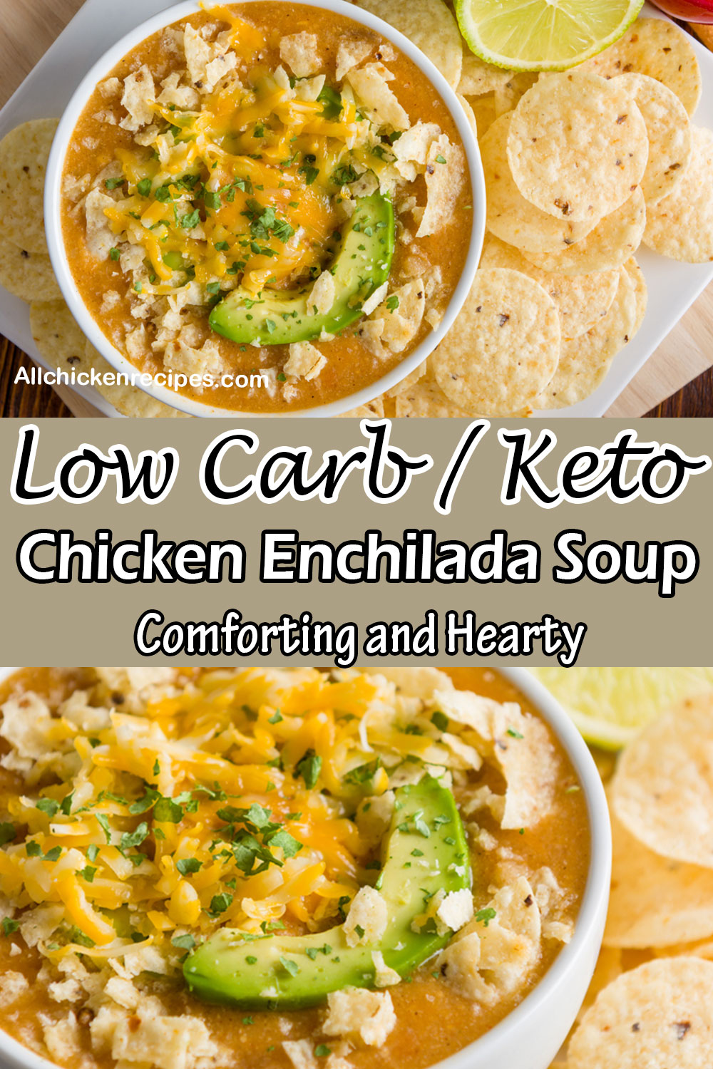 Low Carb Keto Chicken Enchilada Soup