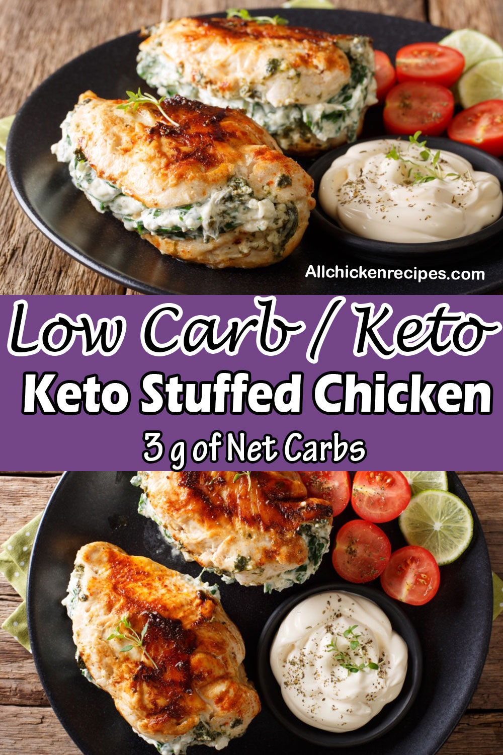 Low Carb Keto Stuffed Chicken