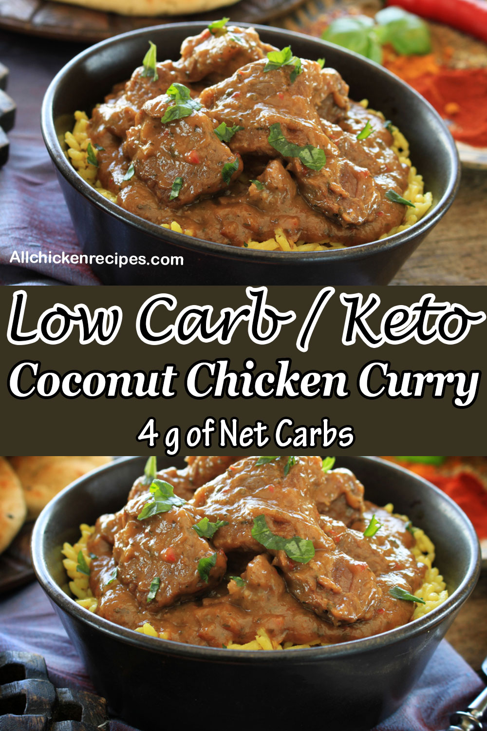 Low carb keto Coconut Chicken