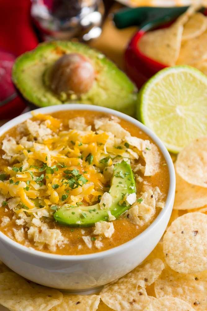 keto chicken enchilada soup slow cooker