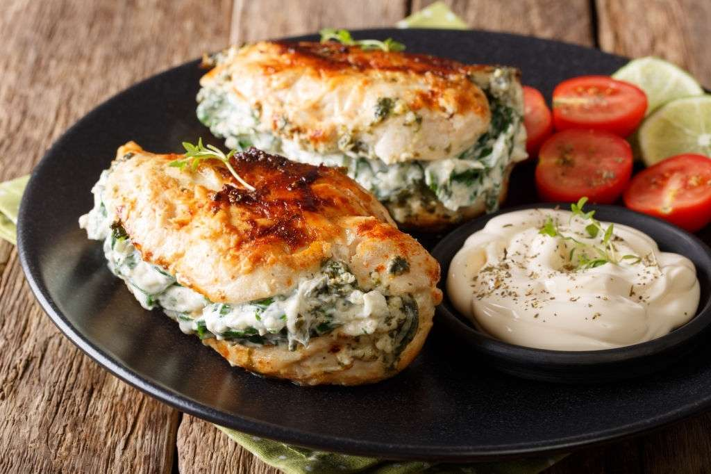keto stuffed chicken breast