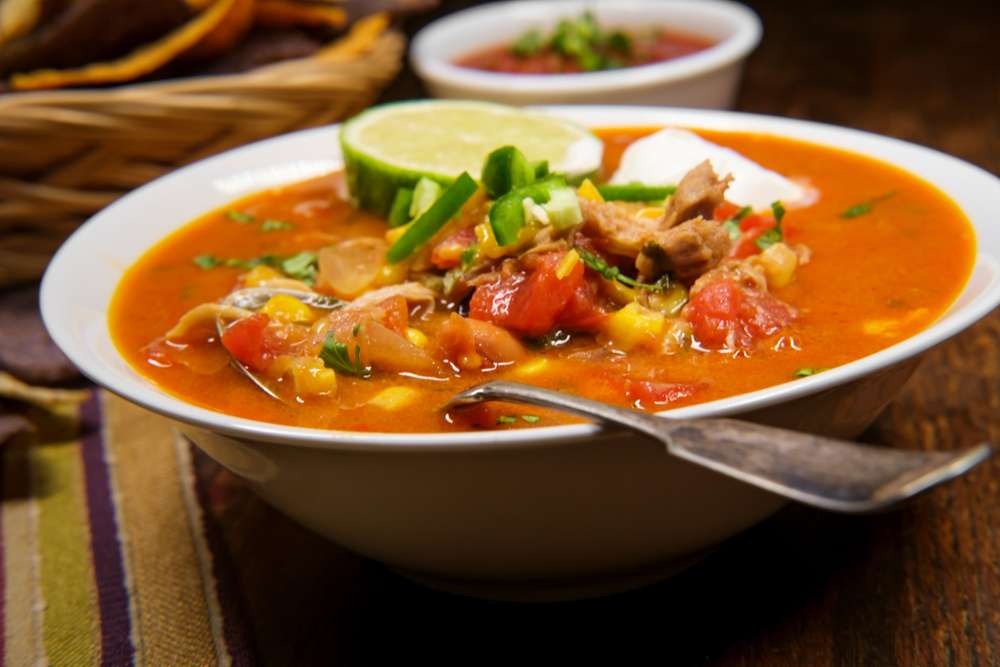 quick keto chicken taco soup