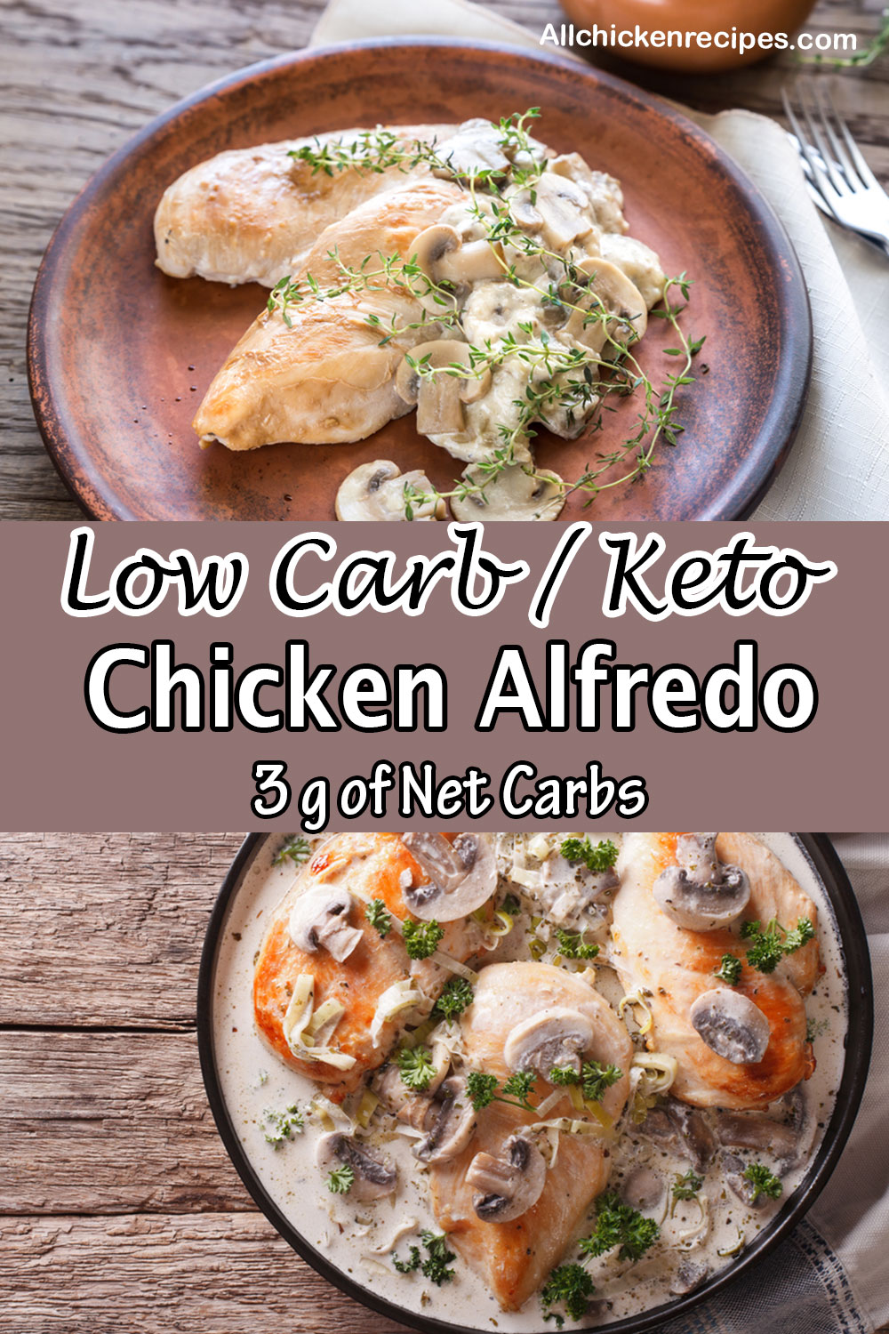 Low Carb Keto Chicken Alfredo