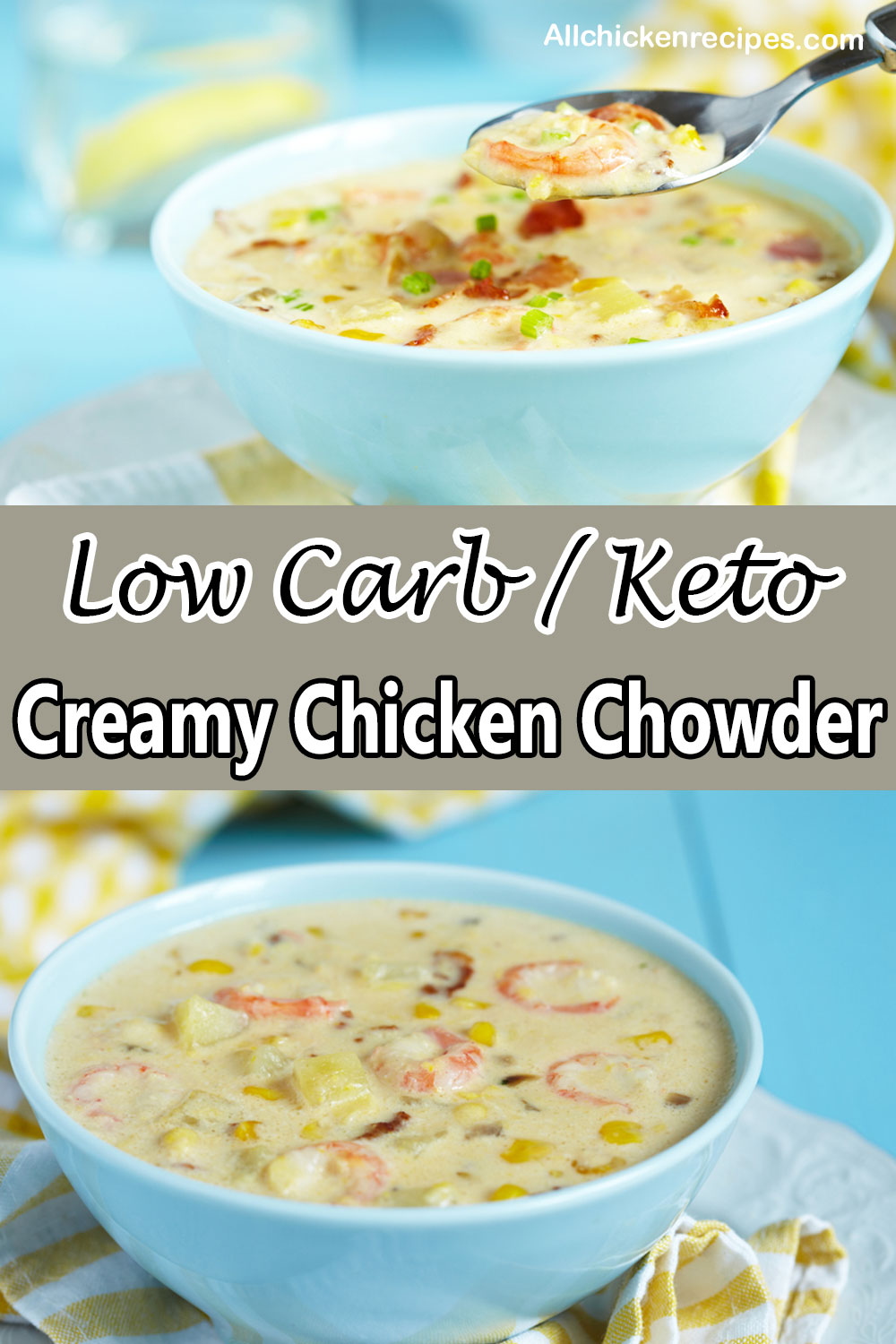 Low Carb Keto Chicken Chowder