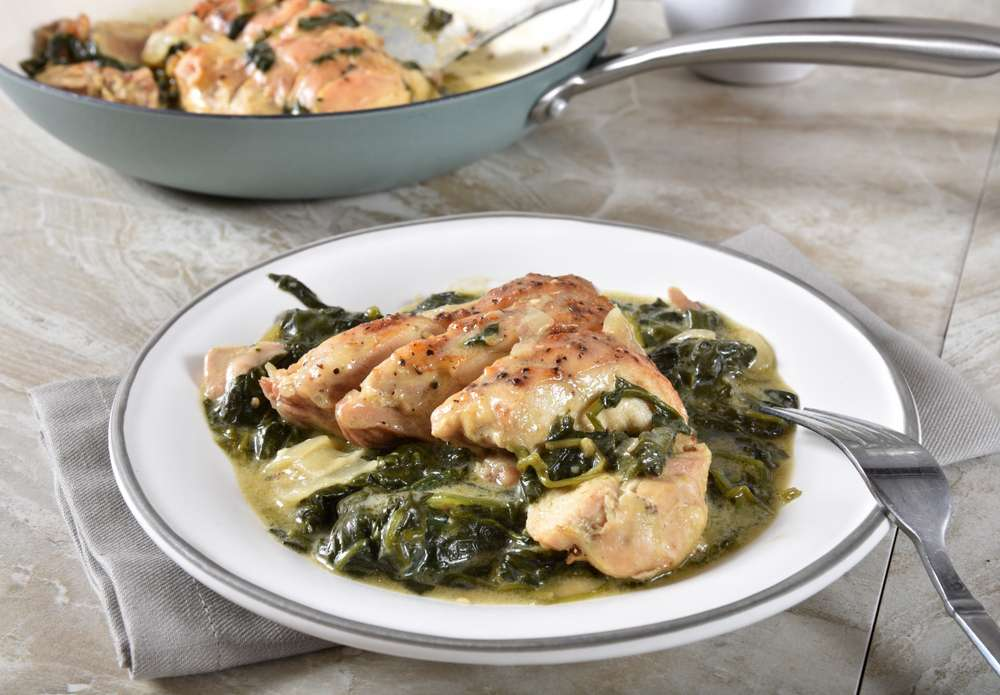 keto chicken spinach florentine