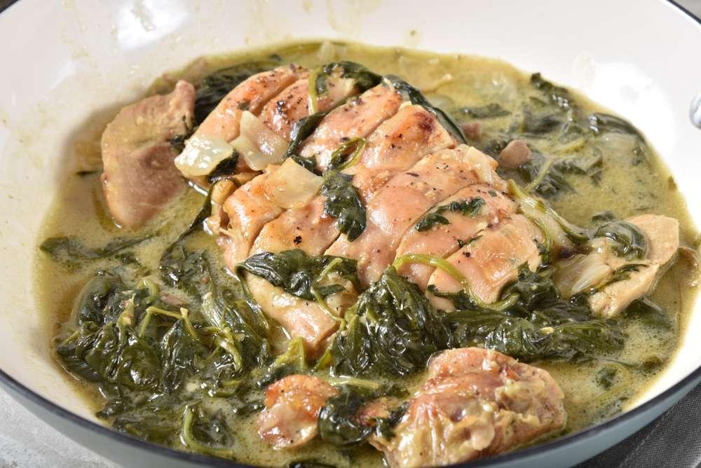 low carb chicken florentine