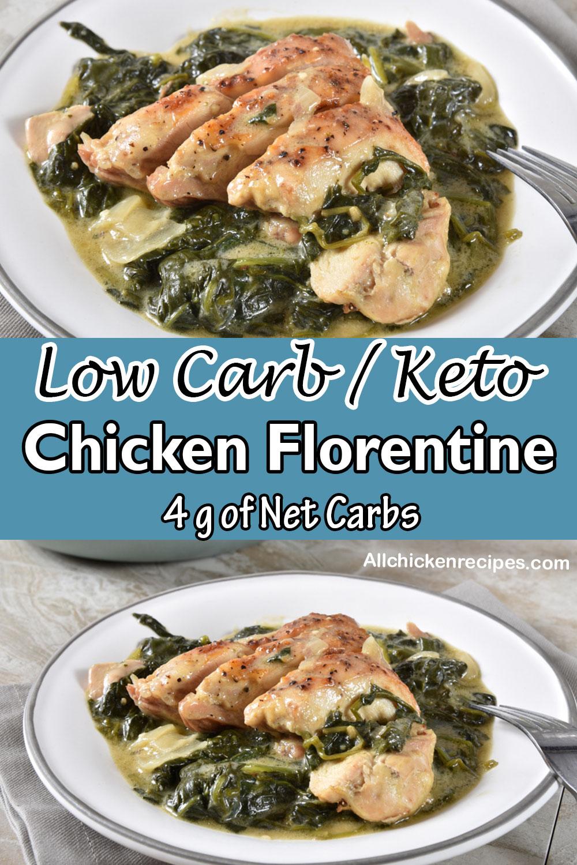low carb keto chicken florentine