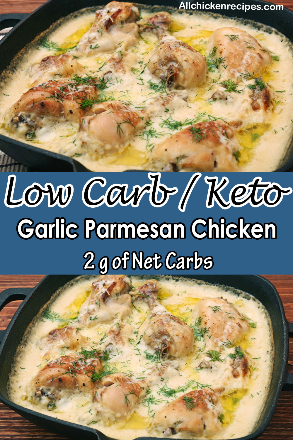 low carb keto garlic chicken