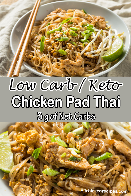 Low Carb Keto Chicken Pad Thai