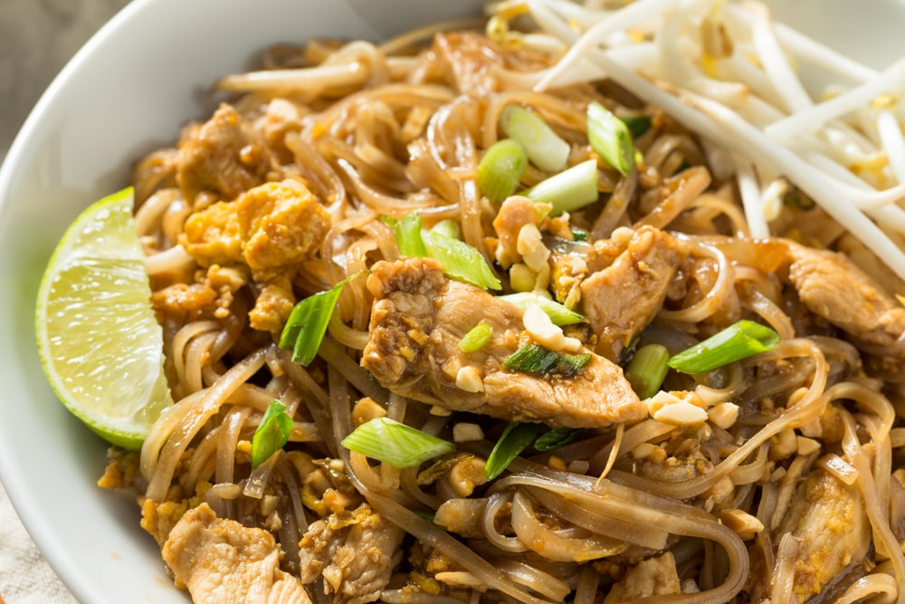 low carb chicken pad thai