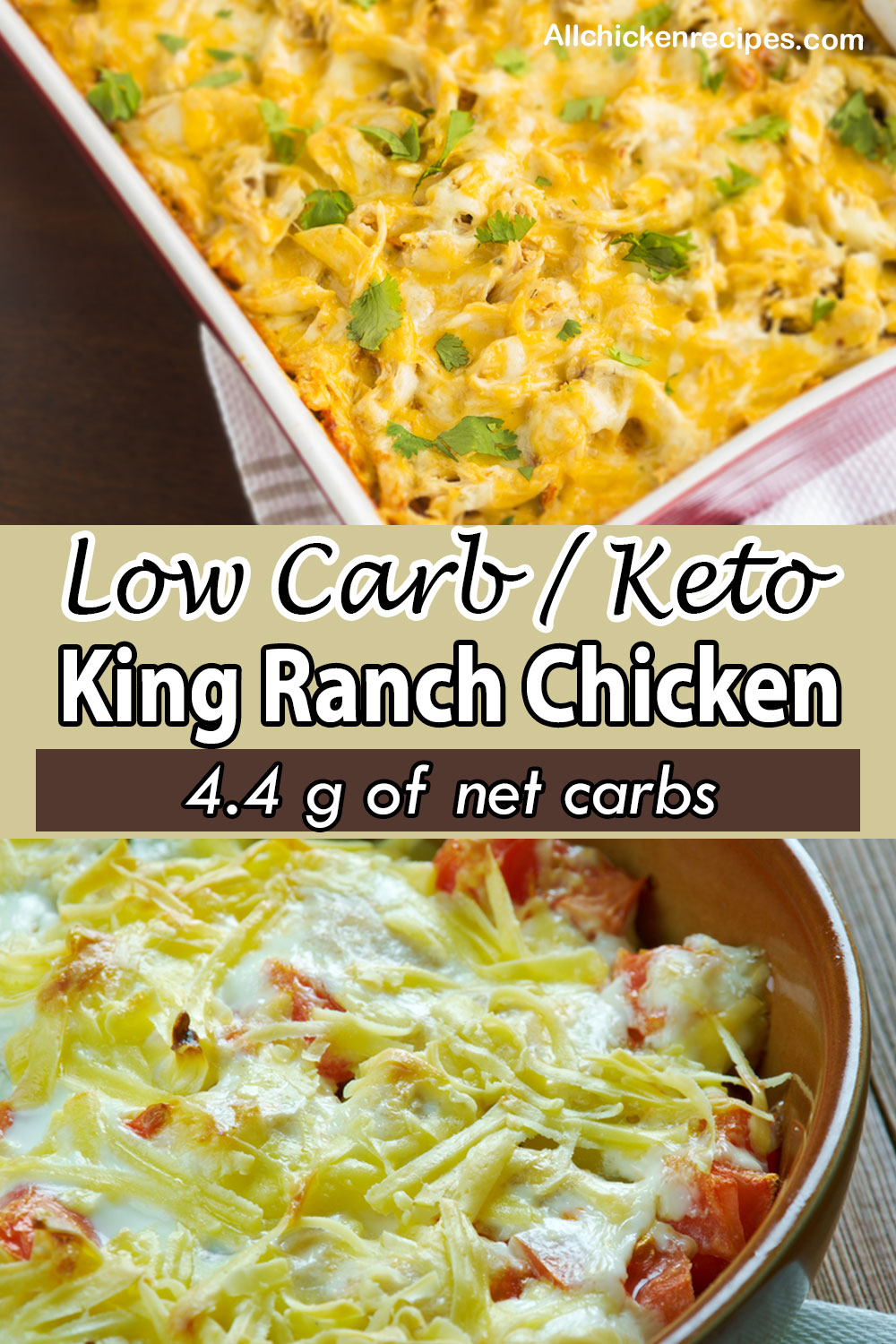 low carb keto King Ranch Chicken casserole