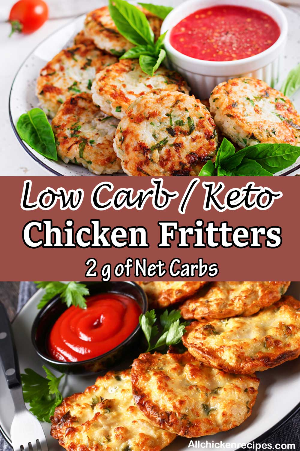 low carb keto chicken fritters