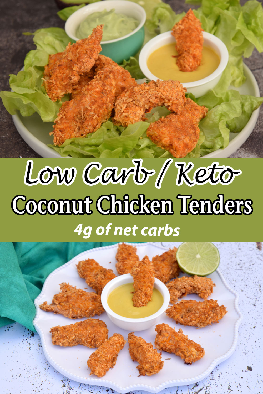 Low Carb Keto Coconut Chicken Tenders