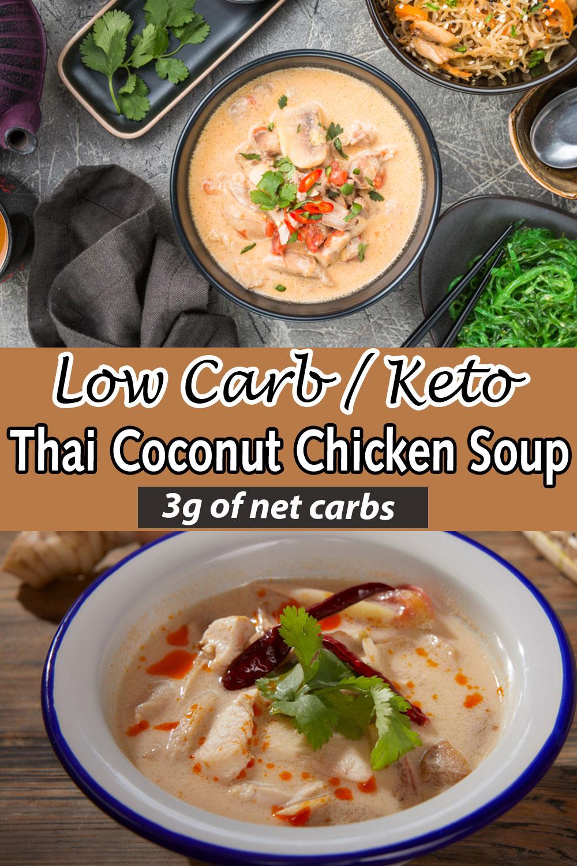 Low Carb Keto Thai Coconut Chicken Soup