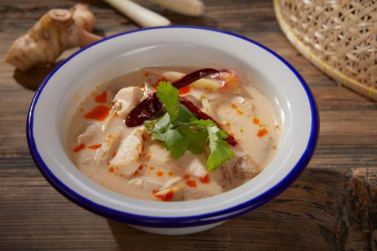 keto thai coconut chicken soup